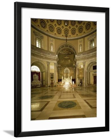 Central Aisle and High Altar of Church of Saint Charles Borromeo--Framed Art Print
