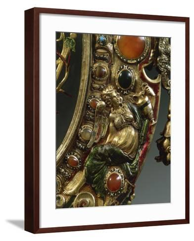Reliquary of Holy Cross, in Gilded Silver Set--Framed Art Print