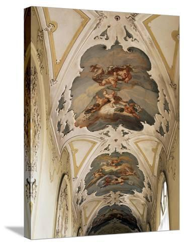 Italy, Sicily, Catania, Palazzo Biscari, the Ballroom, the Galleryed Vault--Stretched Canvas Print