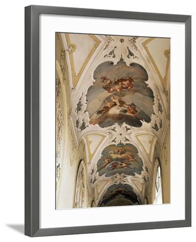 Italy, Sicily, Catania, Palazzo Biscari, the Ballroom, the Galleryed Vault--Framed Art Print