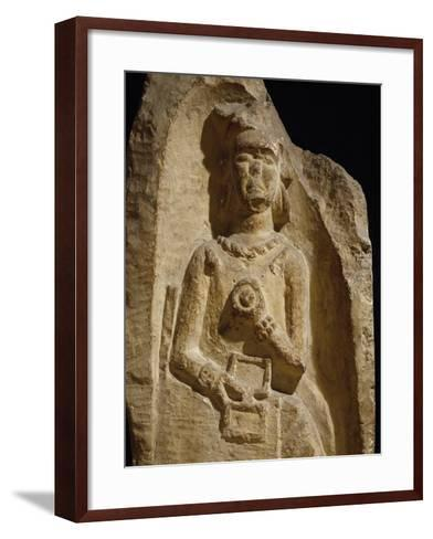 Funerary Stele of Aicca, Azalian Woman from Pannonia Population--Framed Art Print
