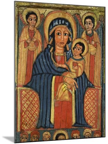 Enthroned Virgin with Child and Angels, Detail from Triptych. Ethiopia 18th-19th Century--Mounted Giclee Print