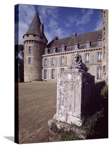 View of Chateau De Coussac-Bonneval, Limousin, France, 14th-17th Century--Stretched Canvas Print
