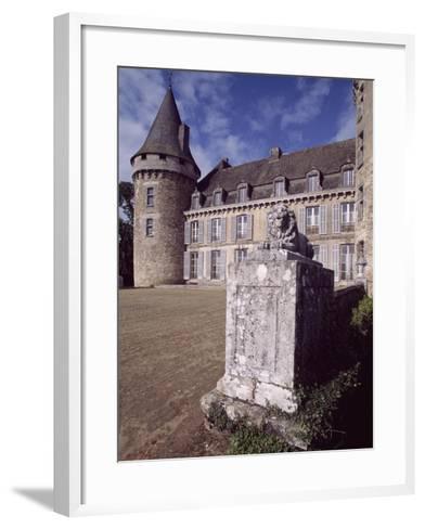 View of Chateau De Coussac-Bonneval, Limousin, France, 14th-17th Century--Framed Art Print
