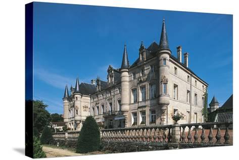France, Lorraine, Dieu-Sur-Meuse, Monthairons Castle--Stretched Canvas Print