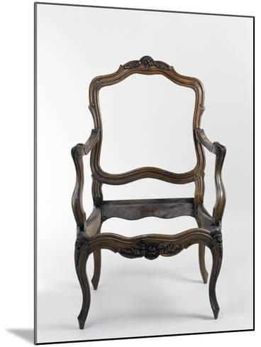 Louis XV Style Walnut Armchair Frame, Stamped Nogaret, France--Mounted Giclee Print