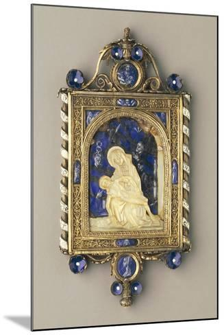 Chiselled, Gilded Silver Pendant Plaque Set with Pearls and Mother-Of-Pearl--Mounted Giclee Print
