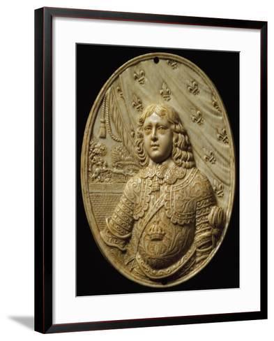 Medallion Depicting Prince, Ivory--Framed Art Print