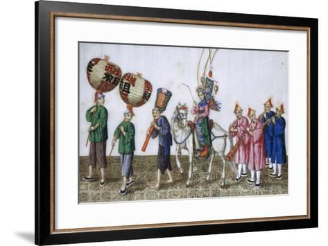 Theatre Scene on Rice Paper, China--Framed Art Print