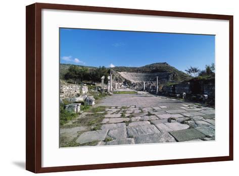 Arcadian Way and the Greek-Roman Theatre, Ephesus, Turkey, Built in Hellenistic Period Ca 200 BC--Framed Art Print