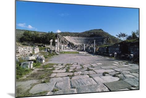 Arcadian Way and the Greek-Roman Theatre, Ephesus, Turkey, Built in Hellenistic Period Ca 200 BC--Mounted Giclee Print