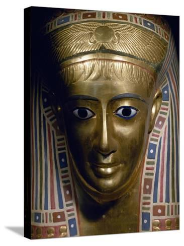 Funerary Mask, Gold, from Fayoum, Roman Empire--Stretched Canvas Print