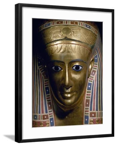 Funerary Mask, Gold, from Fayoum, Roman Empire--Framed Art Print