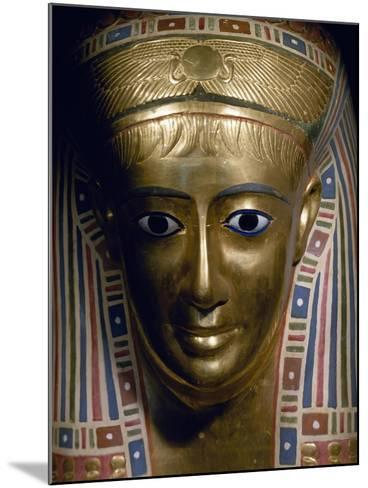 Funerary Mask, Gold, from Fayoum, Roman Empire--Mounted Giclee Print