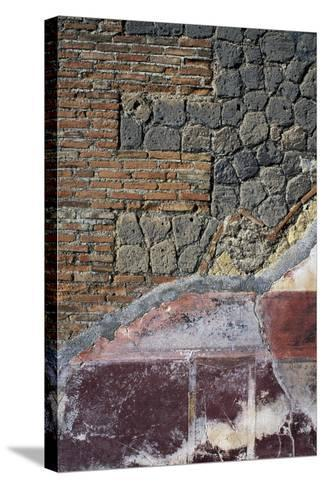 Detail from Fresco and Wall Below, Villa San Marco, Stabiae, Campania, Italy--Stretched Canvas Print