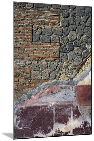 Detail from Fresco and Wall Below, Villa San Marco, Stabiae, Campania, Italy--Mounted Giclee Print