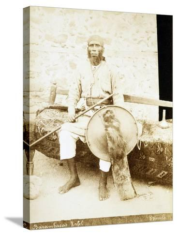 Eritrea, Otmulo, Portrait of Chief Barambaras Kafel Photographed with Shield and Spear--Stretched Canvas Print