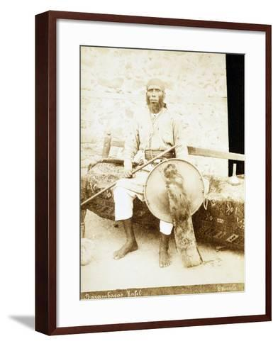 Eritrea, Otmulo, Portrait of Chief Barambaras Kafel Photographed with Shield and Spear--Framed Art Print