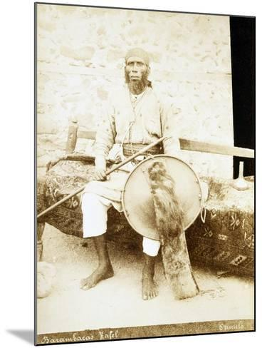 Eritrea, Otmulo, Portrait of Chief Barambaras Kafel Photographed with Shield and Spear--Mounted Giclee Print