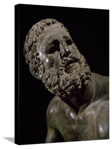 The Face of Boxer, Detail of Statue of Boxer Defeated--Stretched Canvas Print