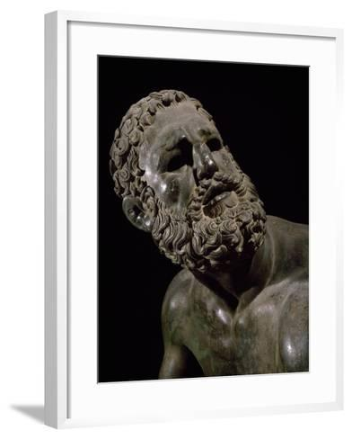 The Face of Boxer, Detail of Statue of Boxer Defeated--Framed Art Print