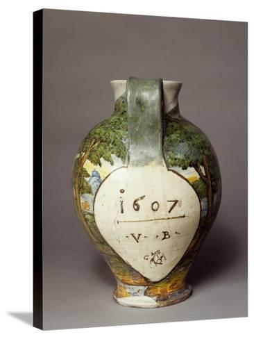 Bulbous Apothecary Jug, 1607--Stretched Canvas Print
