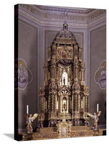 Altar, San Lorenzo Parish Church, Antronapiana, Antrona Schieranco, Italy--Stretched Canvas Print