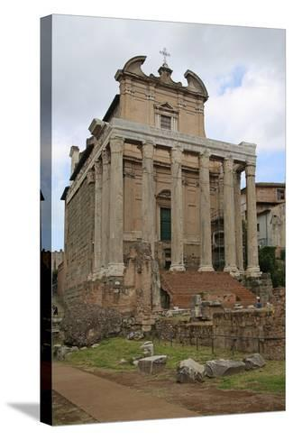 The Temple of Antonino and Faustino--Stretched Canvas Print
