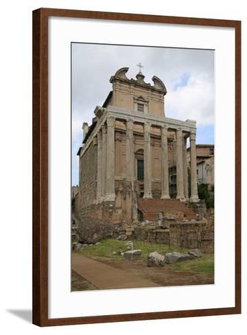 The Temple of Antonino and Faustino--Framed Art Print