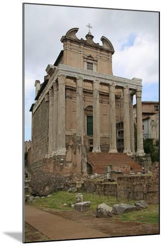 The Temple of Antonino and Faustino--Mounted Giclee Print
