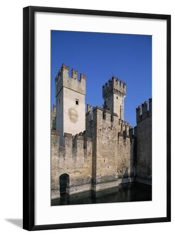 Italy, Lombardy, Sirmione, View of Scaliger Castle--Framed Art Print