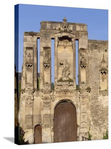 Ruins at Entrance of Nantouillet Castle, Ile-De-France--Stretched Canvas Print