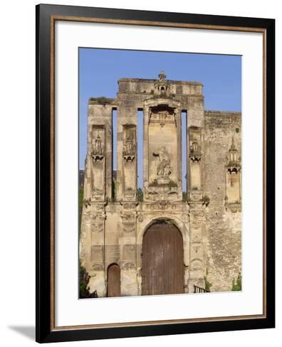 Ruins at Entrance of Nantouillet Castle, Ile-De-France--Framed Art Print