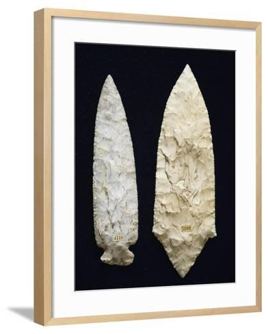 Polished Flint Daggers, Copper Age, Umbria, Italy--Framed Art Print