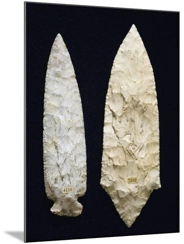 Polished Flint Daggers, Copper Age, Umbria, Italy--Mounted Giclee Print