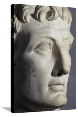 Head of Octavian Sculpture, Detail, Roman Period BC--Stretched Canvas Print