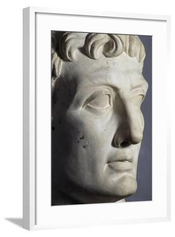 Head of Octavian Sculpture, Detail, Roman Period BC--Framed Art Print