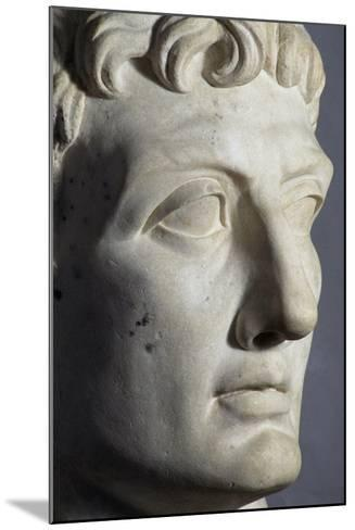 Head of Octavian Sculpture, Detail, Roman Period BC--Mounted Giclee Print