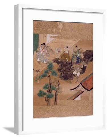 Three Demons Against an Old Wise Man--Framed Art Print