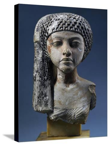 Bust of Akhenaten's Daughter--Stretched Canvas Print