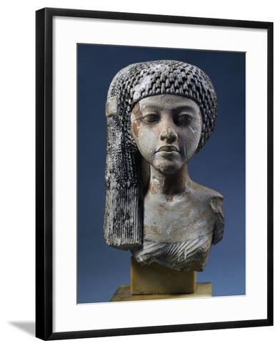 Bust of Akhenaten's Daughter--Framed Art Print