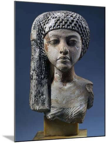 Bust of Akhenaten's Daughter--Mounted Giclee Print