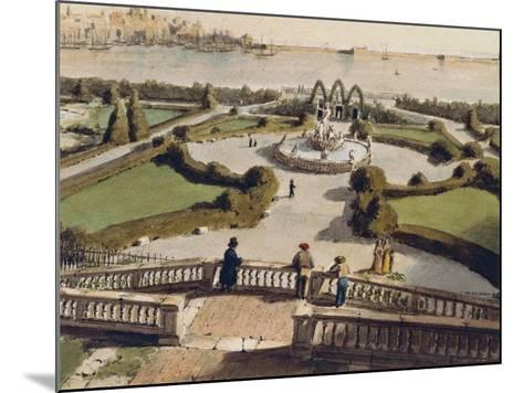 View of Genoa from Garden of Palazzo Doria--Mounted Giclee Print