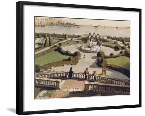 View of Genoa from Garden of Palazzo Doria--Framed Art Print