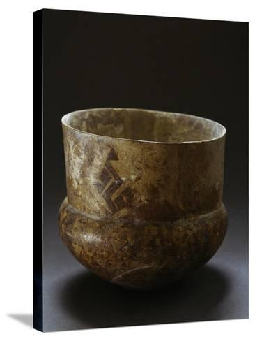 Ceramic Vase from Archaeological Site of Serra D'Alto, Basilicata, Italy, Neolithic Era--Stretched Canvas Print