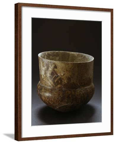 Ceramic Vase from Archaeological Site of Serra D'Alto, Basilicata, Italy, Neolithic Era--Framed Art Print