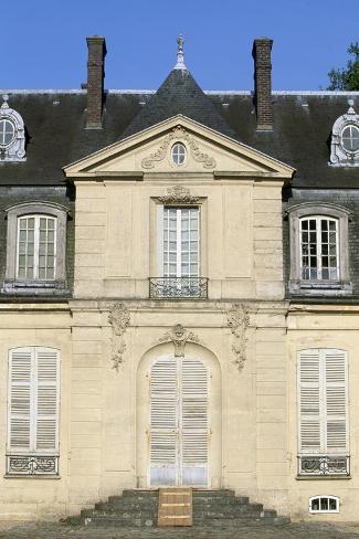 Facade of Chateau De Jossigny, Ile-De-France, Detail, France--Stretched Canvas Print