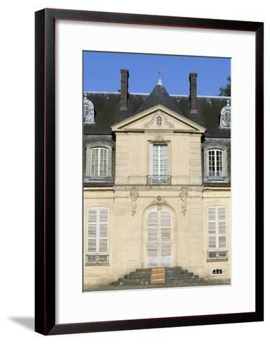 Facade of Chateau De Jossigny, Ile-De-France, Detail, France--Framed Art Print
