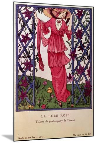 Gazette De Bon Ton: La Robe Rose, Garden Party Dress by Jacques Doucet, 1913--Mounted Giclee Print
