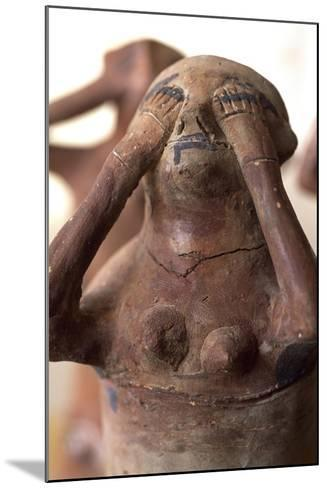 Weeping Statue in Mourning, Valley of Golden Mummies, Giza, Egypt, Detail--Mounted Giclee Print
